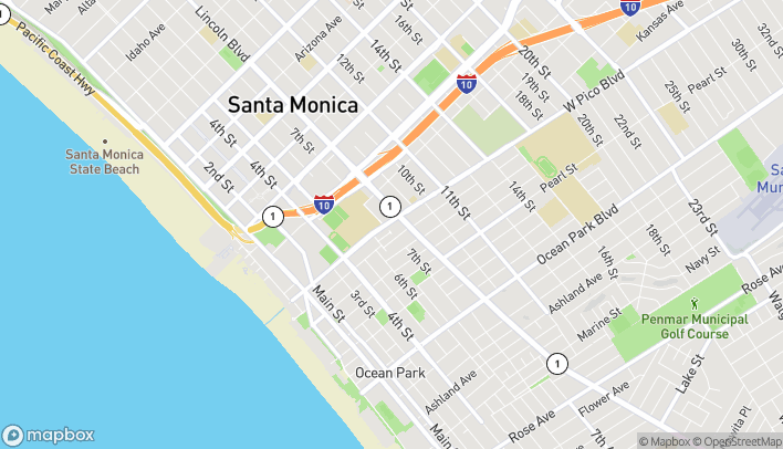Map of 1902A Lincoln Blvd in Santa Monica