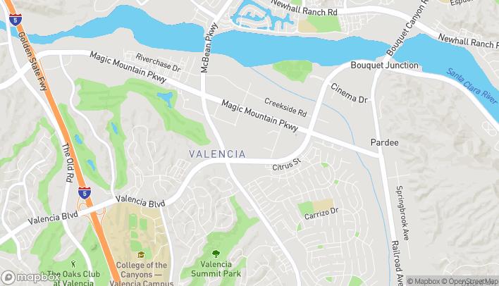 Mapa de 24201 W Valencia Blvd en Valencia