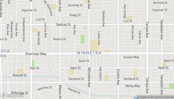 Mapa de 20111 Sherman Way en Winnetka
