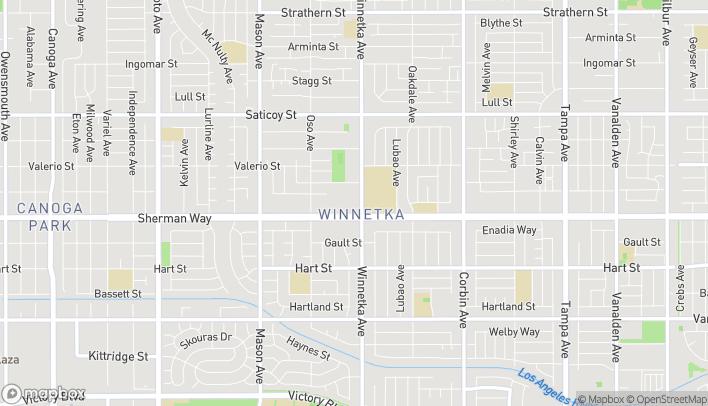 Map of 20111 Sherman Way in Winnetka