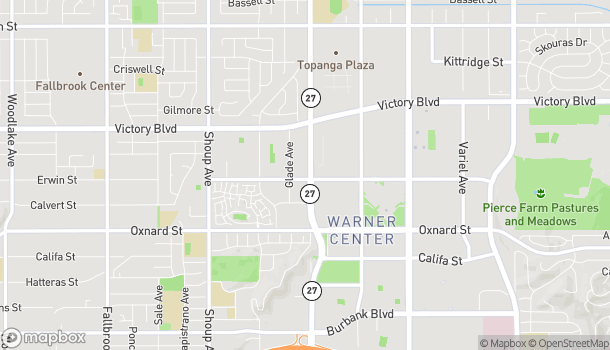 Mapa de 6203 Topanga Canyon Blvd en Woodland Hills