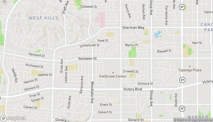 Mapa de 22950 Vanowen St en West Hills