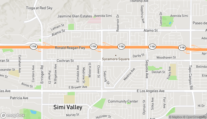 Map of 2410 Sycamore Dr in Simi Valley