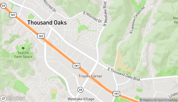 Mapa de 3825 E Thousand Oaks Blvd en Westlake Village