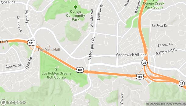 Mapa de 180 N Moorpark en Thousand Oaks