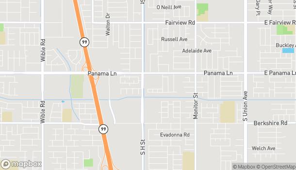 Mapa de 1601 Panama Lane en Bakersfield