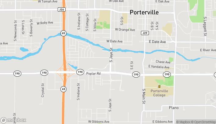 Map of 460 W Vandalia Avenue in Porterville