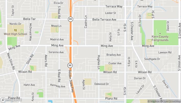 Mapa de 2701 Ming Ave en Bakersfield