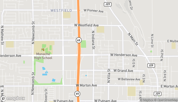 Map of 862 W Henderson Ave in Porterville