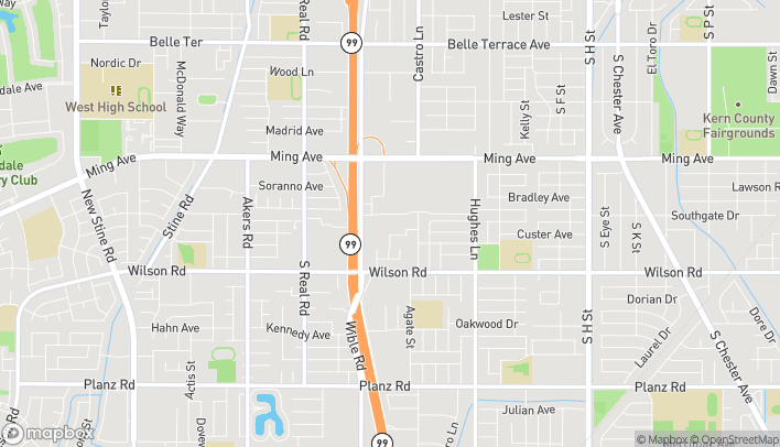 Map of 2701 Ming Ave in Bakersfield