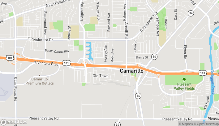 Map of 1955 Daily Dr in Camarillo