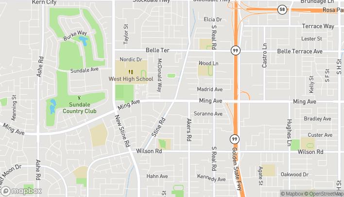 Mapa de 4300 Ming Ave en Bakersfield