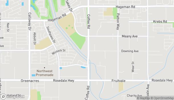 Mapa de 3401 Coffee Rd en Bakersfield