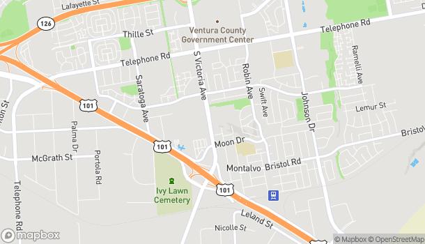Mapa de 1788 South Victoria Avenue en Ventura