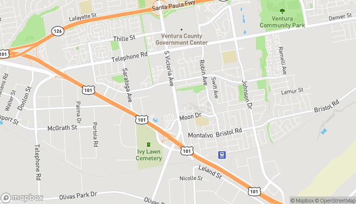 Map of 1788 South Victoria Avenue in Ventura