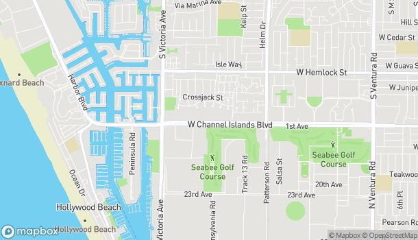 Map of 585 W Chanel Islands Blvd in Port Hueneme