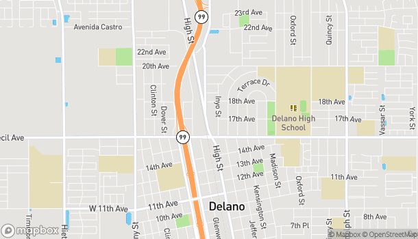 Map of 1714 High Street in Delano