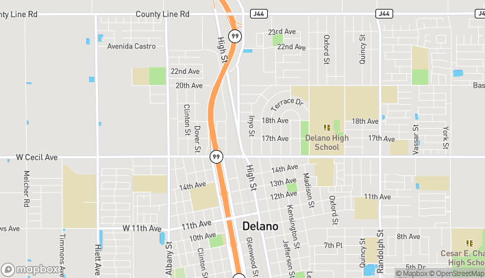 Mapa de 1714 High Street en Delano