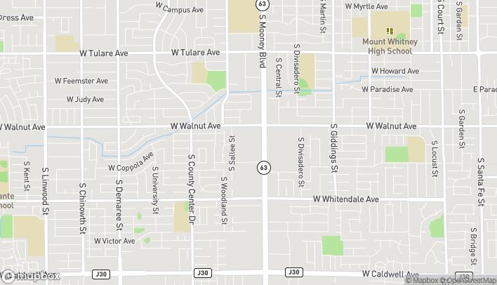 Map of 2033 S Mooney Blvd in Visalia