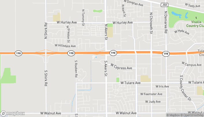 Mapa de 5404 W Cypress Ave en Visalia