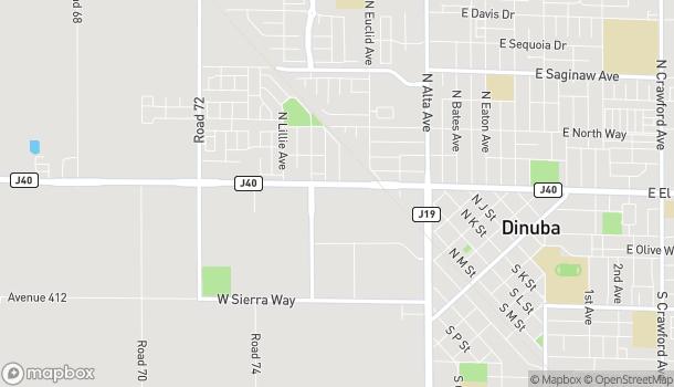 Map of 780 W El Monte Way in Dinuba