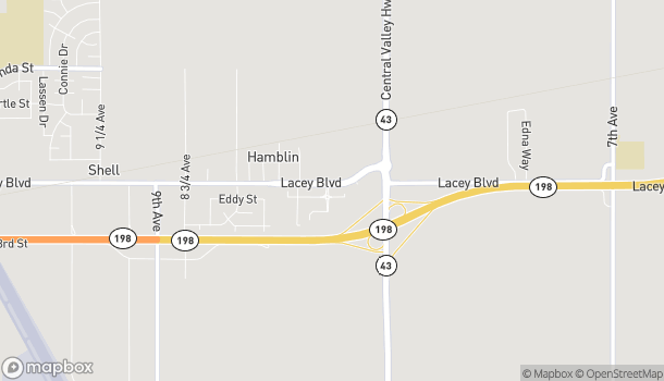 Map of 2461 E Lacey Blvd in Hanford