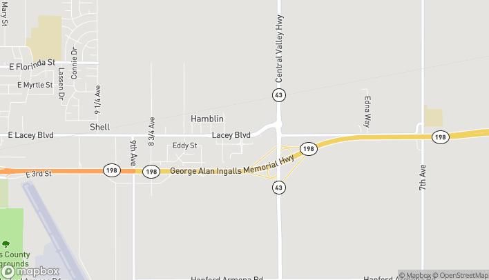 Mapa de 2461 E Lacey Blvd en Hanford