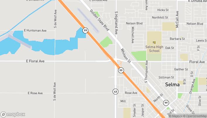 Mapa de 3120 Floral Ave en Selma