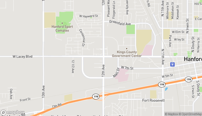 Map of 1731 W. Lacey Blvd in Hanford