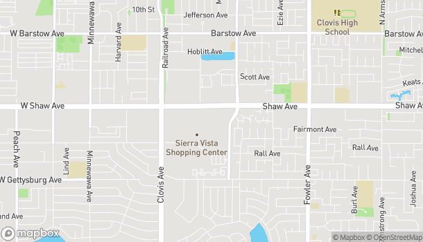 Map of 1180 Shaw Avenue in Clovis