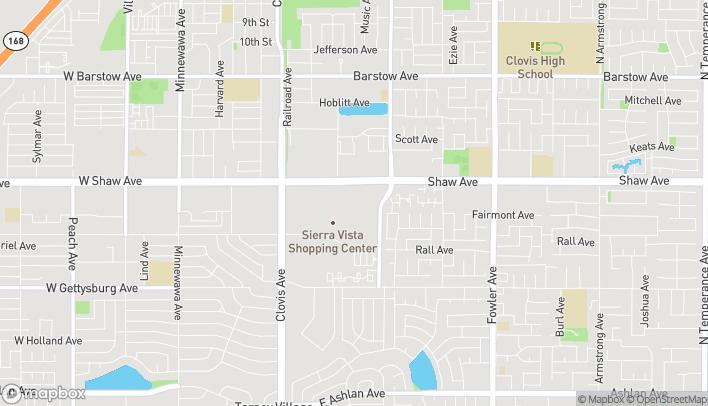 Mapa de 1180 Shaw Avenue en Clovis