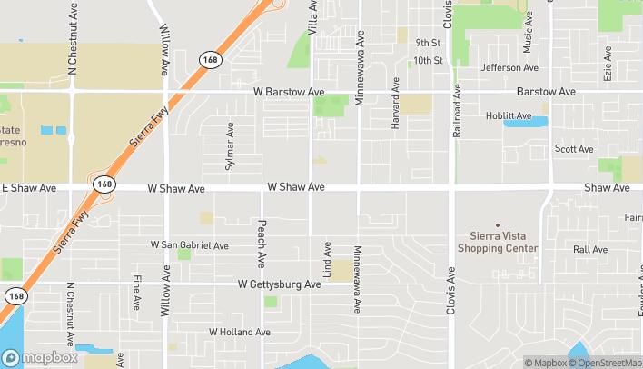 Map of 175 W Shaw Ave in Clovis