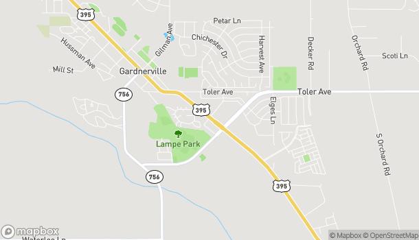 Map of 1352 Hwy 395 in Gardnerville