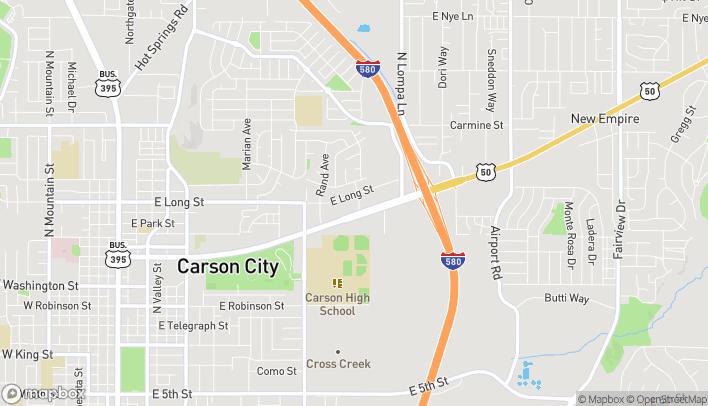 Map of 1894 E William St in Carson City