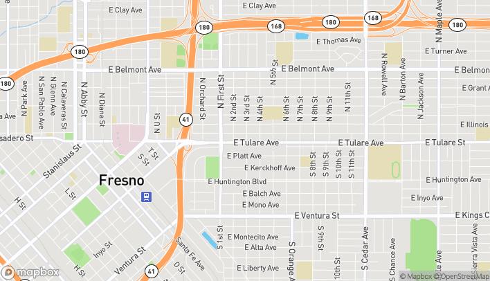 Mapa de 3263 E Tulare Ave en Fresno