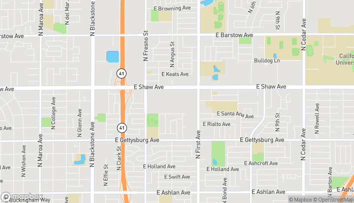 Mapa de 645 E. Shaw Avenue en Fresno
