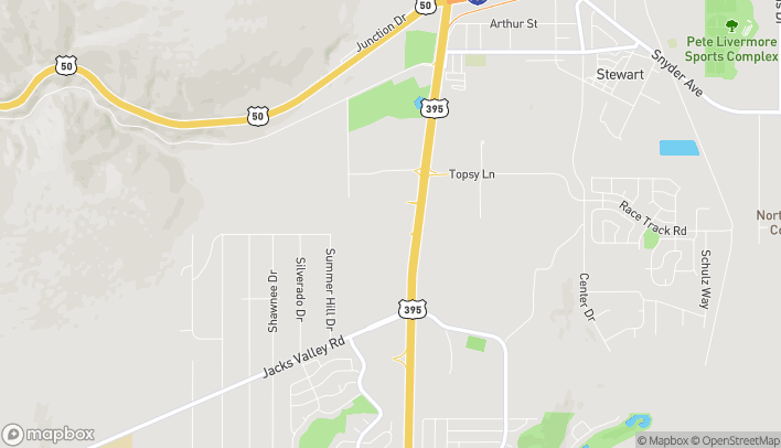 Map of 911 Topsy Lane in Carson City