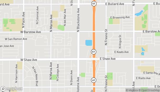 Map of 5180 N Blackstone Ave in Fresno