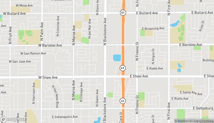 Mapa de 5180 N Blackstone Ave en Fresno