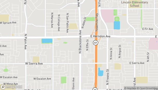 Mapa de 6685 N Blackstone Ave en Fresno