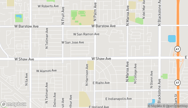 Map of 1008 W Shaw Ave in Fresno