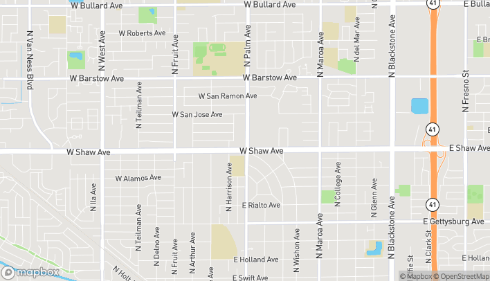 Mapa de 1008 W Shaw Ave en Fresno