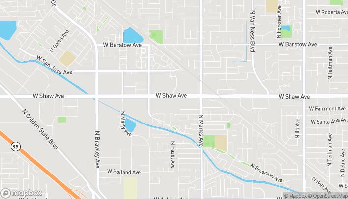 Mapa de 3195 W Shaw Ave A en Fresno