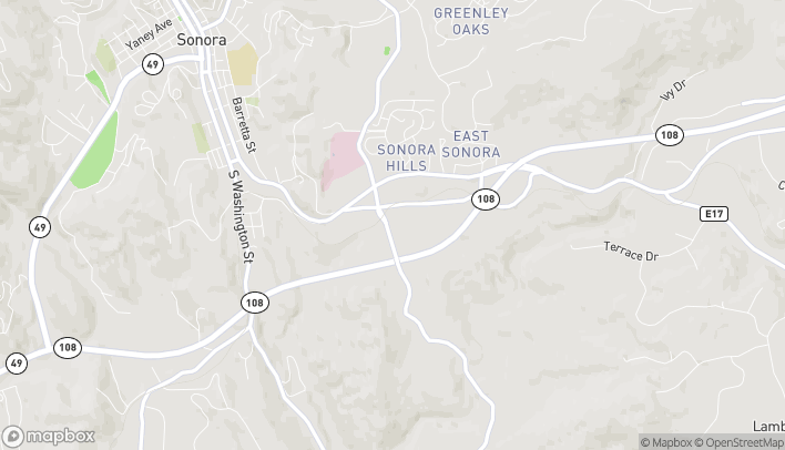 Map of 133 Old Wards Ferry Rd in Sonora