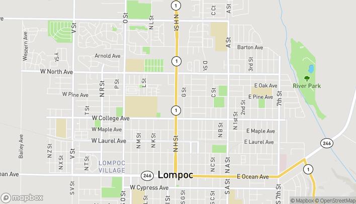 Mapa de 700 N H St en Lompoc