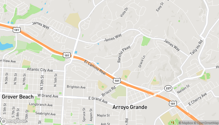 Mapa de 1138 W Branch St en Arroyo Grande