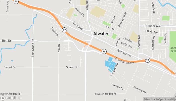 Mapa de 1291 Commerce Ave en Atwater