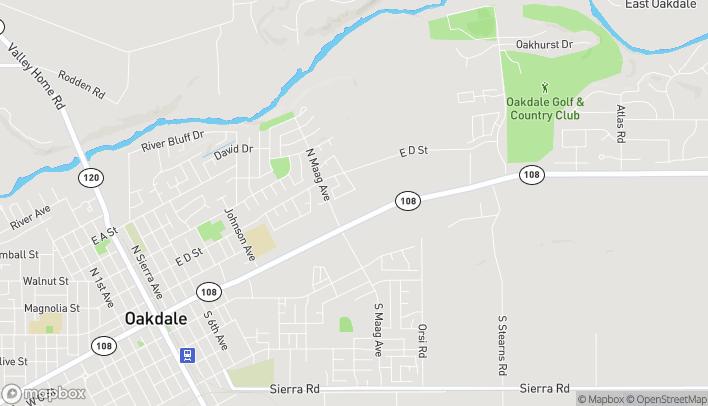 Map of 1570 E F St in Oakdale