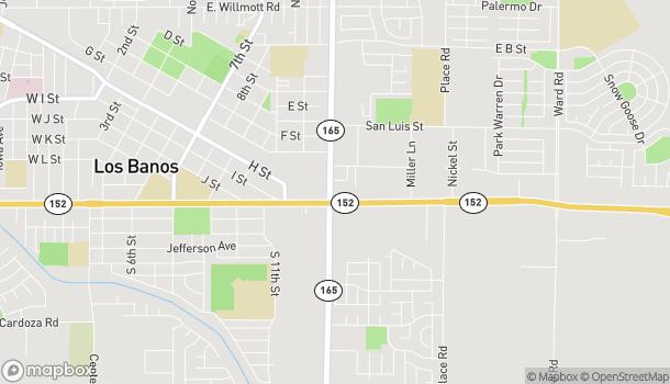 Mapa de 1350 E Pacheco Blvd en Los Banos