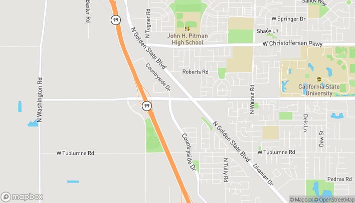 Map of 2858 W Monte Vista Ave in Turlock